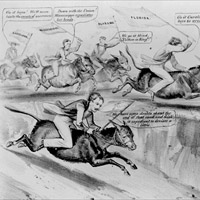 A political cartoon from 1861